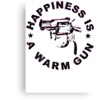 Happiness Is A Warm Gun (Inspired By John Lennon / Andy Warhol)  Canvas Print
