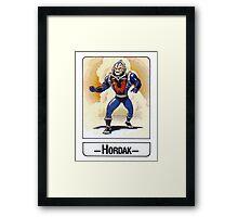 He-Man - Hordak - Trading Card Design Framed Print