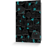CHIRP CHIRP (dark) Greeting Card