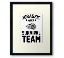 Jurassic Park Survival Team Framed Print