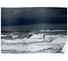 April Showers also bring Spring Surfers Poster
