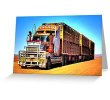 Road Train Greeting Card