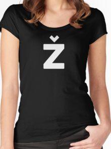 Žižek's Ž (white, balanced Z) Women's Fitted Scoop T-Shirt