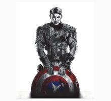 Captain America Black/White Kids Clothes