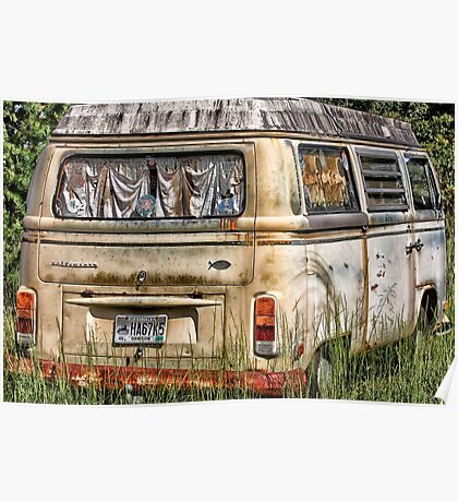 Hippy Bus Poster