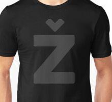 Žižek's Ž (big, darkgray, balanced Z) Unisex T-Shirt