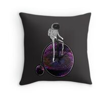 PENNY FARTHING SPACE CYCLE Throw Pillow