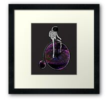PENNY FARTHING SPACE CYCLE Framed Print