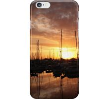 A young boy fishing at Scarborough Marina iPhone Case/Skin