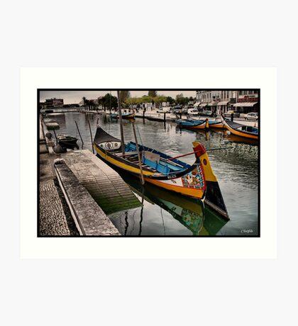 BARCO MOLICEIRO Art Print