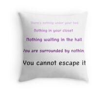 You cannot escape it -WTNV Throw Pillow