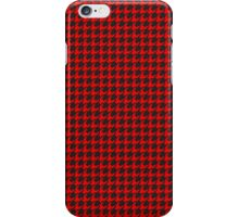 Houndstooth (RED) iPhone Case/Skin