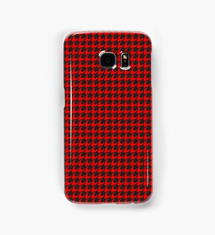 Houndstooth (RED) Samsung Galaxy Case/Skin