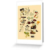 CATS + SPACESHROOMS Greeting Card