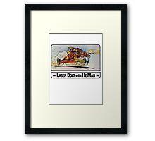 He-Man - Laser Bolt - Trading Card Design Framed Print