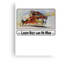 He-Man - Laser Bolt - Trading Card Design Canvas Print