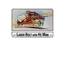 He-Man - Laser Bolt - Trading Card Design Photographic Print