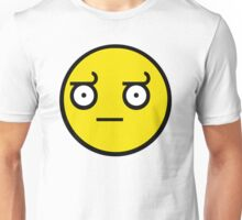 Disappointed Smiley Unisex T-Shirt