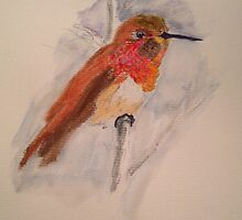 Hummingbird in Fall Color by rhiasofia