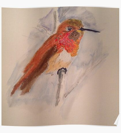 Hummingbird in Fall Color Poster