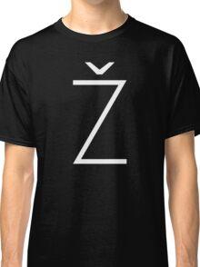 Žižek's Ž (white, thin Z) Classic T-Shirt