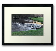The River and Weir, Dovedale Framed Print