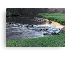 The River and Weir, Dovedale Canvas Print