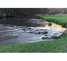 The River and Weir, Dovedale Photographic Print