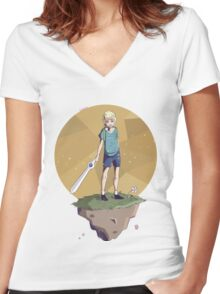 Young Adventurer  Women's Fitted V-Neck T-Shirt