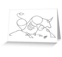 Toro Greeting Card