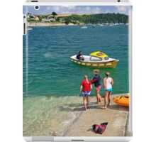 Swimmers on the Slipway, St Mawes iPad Case/Skin