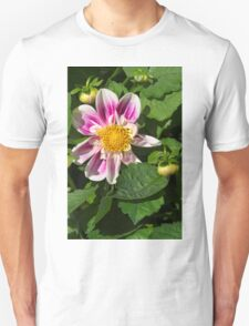 Pink Dahlia Close-up Unisex T-Shirt