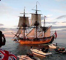 HM Bark Endeavour by Colin Brittain