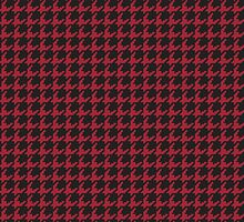 Houndstooth (CRIMSON) by goodedesign