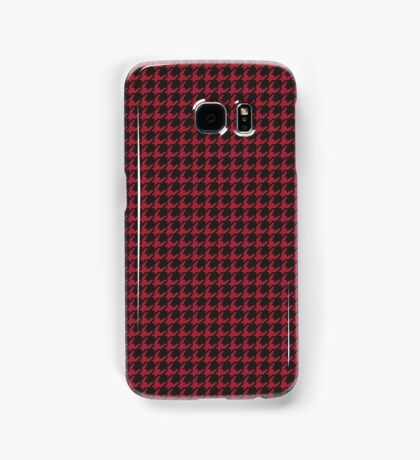 Houndstooth (CRIMSON) Samsung Galaxy Case/Skin