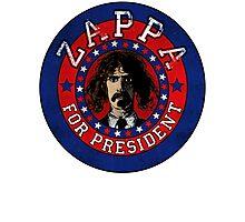 Frank Zappa for President Photographic Print
