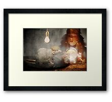One of them has a fully formed human brain. Framed Print