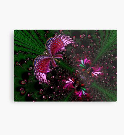 Fractal Red Butterfly Metal Print
