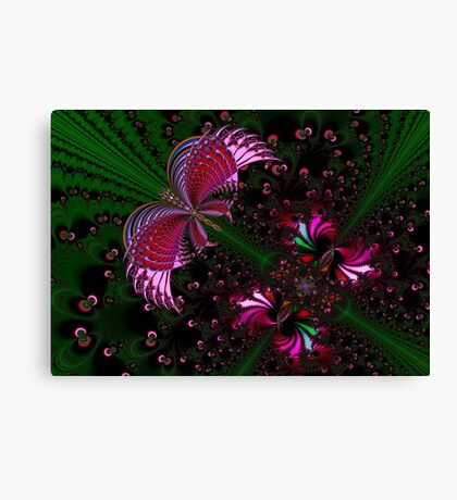Fractal Red Butterfly Canvas Print