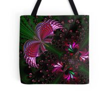 Fractal Red Butterfly Tote Bag