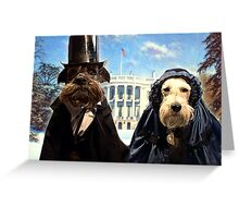 presidential pups Greeting Card