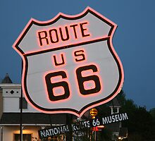 Route 66 in Neon by Patricia Montgomery