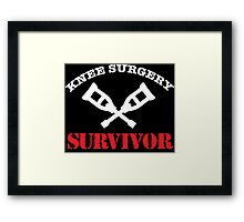 Cool 'Knee Surgery Survivor' Recovery T-Shirt and Gifts Framed Print