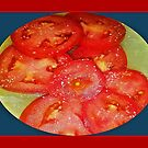 Tomatoes on a plate .........with a dash of salt by WhiteDove Studio kj gordon