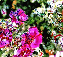 Spilt Paint on Flowers by DRCP