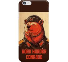 Soviet Bear - Work Harder Comrade iPhone Case/Skin