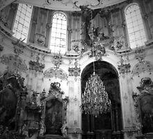 Ettal Monastery in BW by ArtistryBySonia