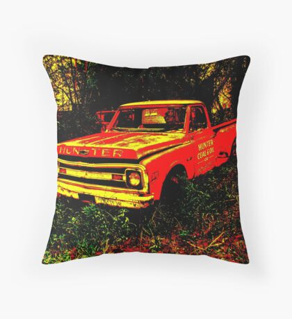 Stepside Red Throw Pillow
