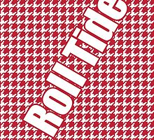 Houndstooth, hounds tooth, crimson, white, alabama, roll tide, fabric, woven by goodedesign