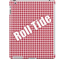 Houndstooth, hounds tooth, crimson, white, alabama, roll tide, fabric, woven iPad Case/Skin